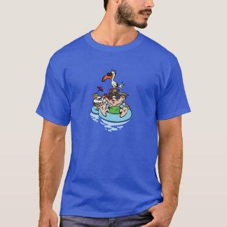 Man Relaxing in Pool T-Shirt