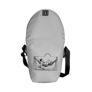 Man Relaxing on Hammock Courier Bag