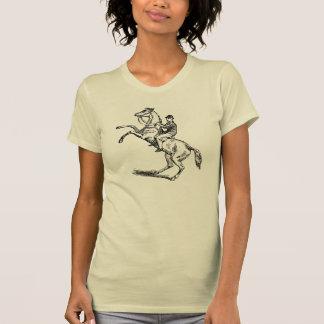 Man riding a rearing horse shirts