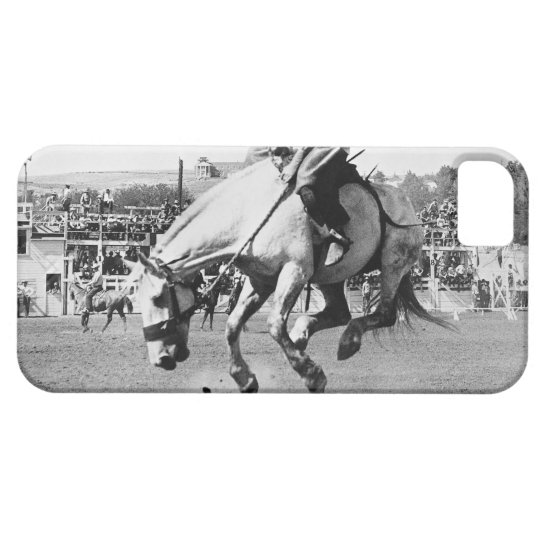 Man riding bucking horse in rodeo iPhone SE/5/5s case