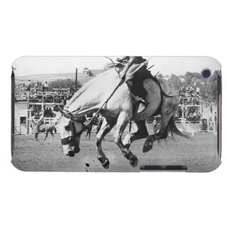 Man riding bucking horse in rodeo iPod touch Case-Mate case