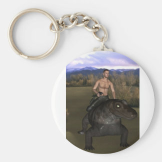 Man Riding Reptile 3 Keychain 2
