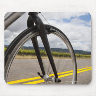 Man road biking at high speed POV Mouse Pad
