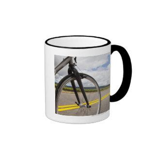 Man road biking at high speed POV Ringer Mug