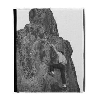 Man Rock Climbing iPad Cases
