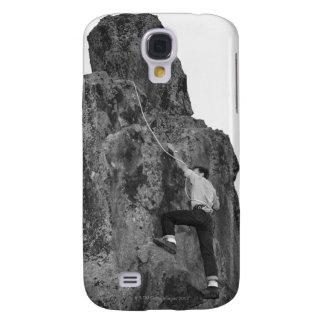 Man Rock Climbing Samsung Galaxy S4 Cases