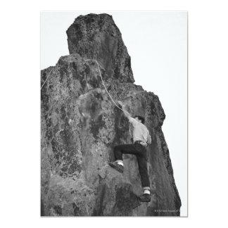 Man Rock Climbing 5x7 Paper Invitation Card