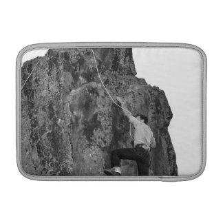Man Rock Climbing MacBook Sleeves
