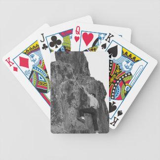 Man Rock Climbing Deck Of Cards