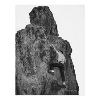 Man Rock Climbing Postcards