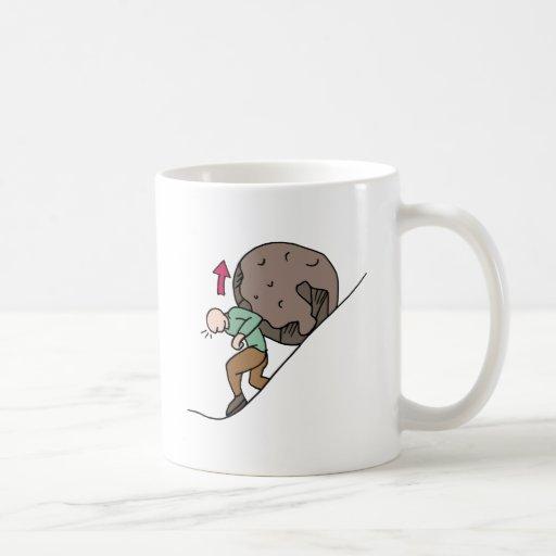 Man rolling rock appeal coffee mug