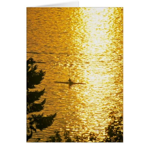 Man Rowing Greeting Card
