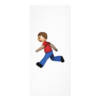 Man Running - Emoji Rack Card