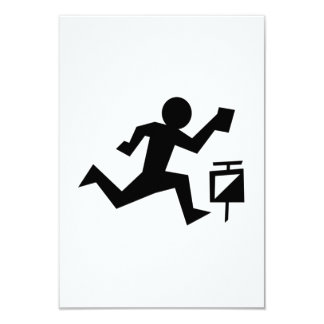 Man Running 3.5x5 Paper Invitation Card