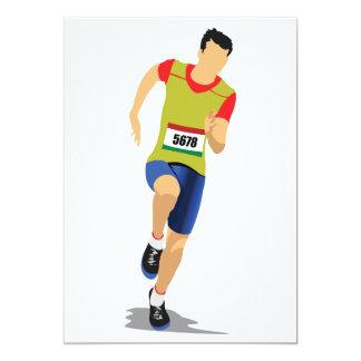"""Man Running Invitations 5"""" X 7"""" Invitation Card"""