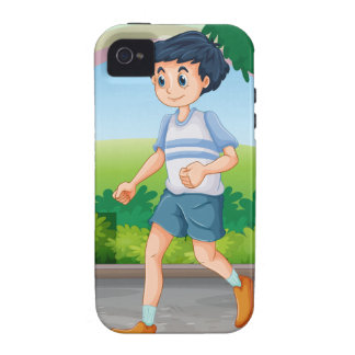 Man running iPhone 4/4S cover
