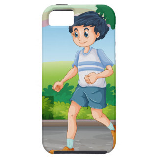 Man running iPhone 5 covers