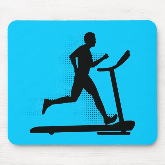 Man Running on a Treadmill Mouse Pad