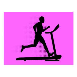 Man Running on a Treadmill Postcard