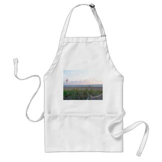 man running on beach painting style image adult apron
