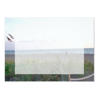 man running on beach painting style image 5x7 paper invitation card