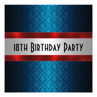 Man s 18th Birthday Invitation