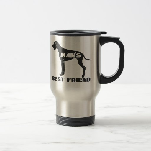 Man's Best Friend fun dog silhouette Coffee Mugs
