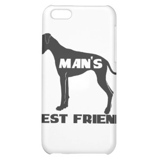 Man's Best Friend fun dog silhouette Case For iPhone 5C