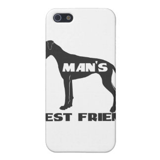 Man's Best Friend fun dog silhouette Case For iPhone 5