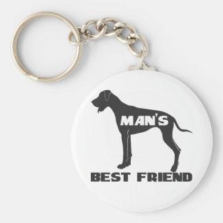 Man's Best Friend fun dog silhouette Keychain