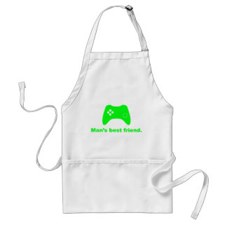 Man's Best Friend Funny Gamer Apron