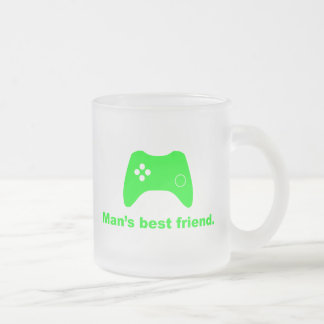 Man's Best Friend Funny Gamer Frosted Mug