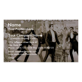 Man s Enemy Coward Vintage Theater Business Cards