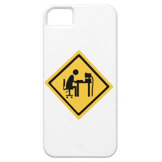 Man Sat at a Computer iPhone SE/5/5s Case