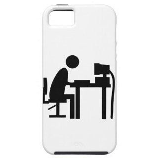 Man sat at a computer. iPhone SE/5/5s case