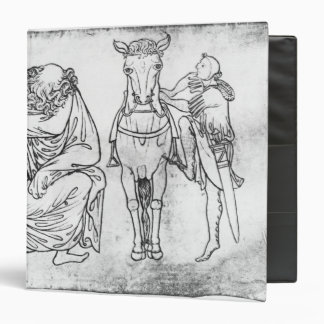 Man seated, Knight mounting his horse 3 Ring Binder