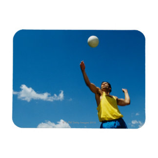 Man serving volleyball flexible magnets