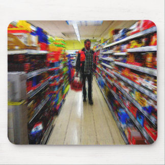 Man Shopping Mouse Pad