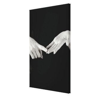 Man signing letter o in British sign language, Canvas Print