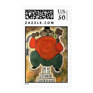 Man sitting by rafi talby postage