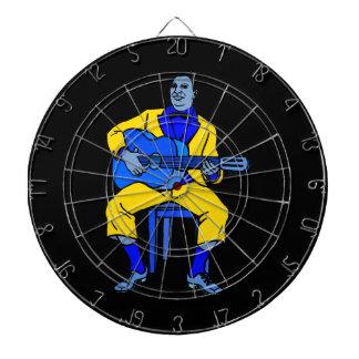 man sitting guitar yellow blue.png dart board