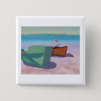 Man Sitting in Boat, Button