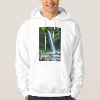Man Sitting In Front Of Big Waterfall, Costa Rica Pullover
