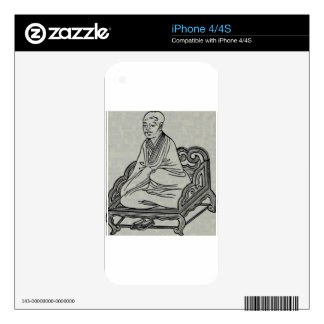 Man sitting in Meditation Pose Decals For The iPhone 4S