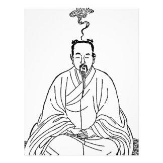 Man Sitting in Meditation Pose Letterhead