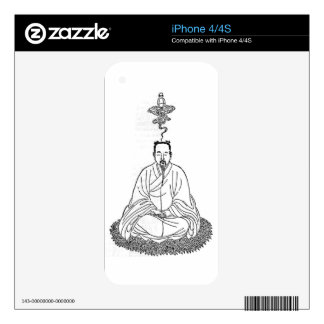 Man Sitting in Meditation Pose Skins For The iPhone 4S