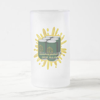 MAN-SIX-PACK2 FROSTED GLASS BEER MUG