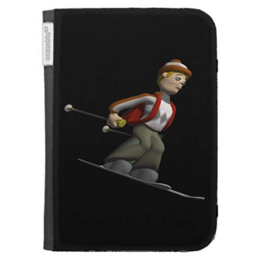 Man Skiing Cases For The Kindle