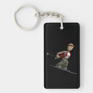 Man Skiing Keychain
