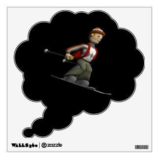 Man Skiing Wall Graphics